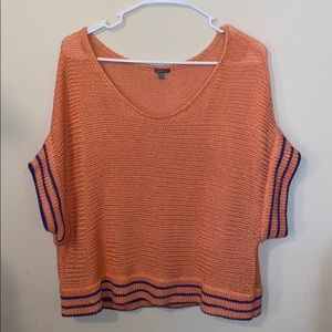 Orange 🧡 & Blue💙 knit Charlotte Russe Top